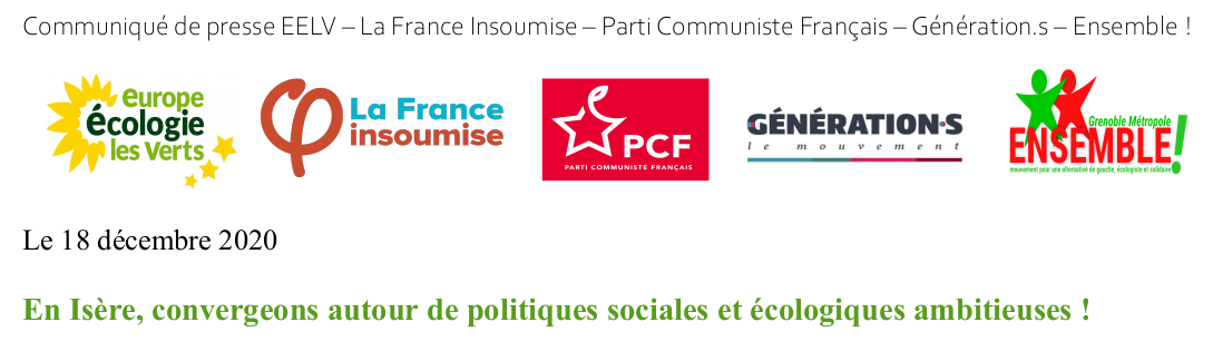 En Isère, convergeons autour de politiques sociales et écologiques ambitieuses !